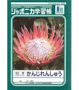 Heft Showa für die Kanji-Schreibübung – Grundformat 50 Quadrate pro Seite.