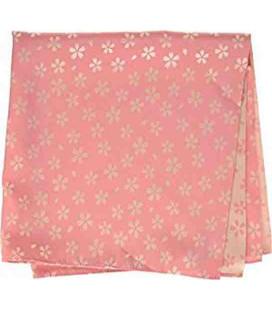 Yamada Seni Musubi – japanisches Tuch - Kirara-Sakura (rosa- und cremfarbig) - 100% Polyester
