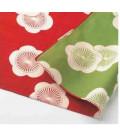 Yamada Seni Musubi - japanisches Tuch - aprikosenfarben - umkehrbar (rot und grün) - 100% Baumwolle