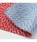 Yamada Seni Musubi – Japanisches Tuch - Chrysantheme-Farben - umkehrbar (rot und blau)- 100% Baumwolle