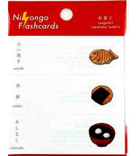 """Japanische Haftnotizen (Post-It) """"Nihongo Flannshcards"""" - Wagashi (Japanische Süßigkeiten)"""