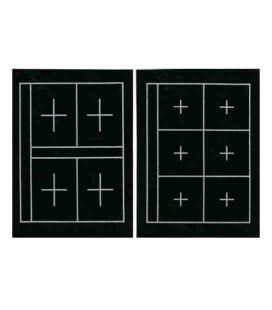 Plüsch Kalligraphie Kuretake KA23101 (36 * 27 cm - doppelseitig, 6 und 4 Rahmen auf jeder Seite)