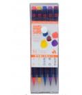 Akashiya Sai Aquarell-Pinselstift-Set mit 5 Farben (Herbst)
