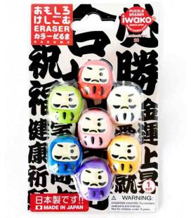 Iwako Puzzle Eraser - Daruma - (Radiergummis mit verschiedenen Designs) Hergestellt in Japan