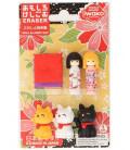 Iwako Puzzle Eraser - Doll & Lucky Cat - (Radiergummis mit verschiedenen Designs) Hergestellt in Japan