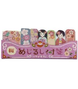 Selbstklebende Lesezeichen - Kurochiku (Kyoto, Japan)- Modell Sakura