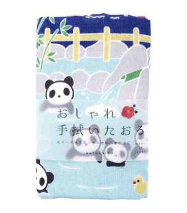 Japanisches Handtuch tenugui Kurochiku (Kyoto)- Modell Panda