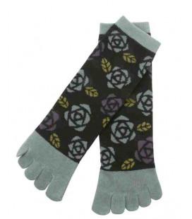 Fünf Zehen Socken für Damen – Kurochiku (Kyoto) – Bara Modell- (Einheitsgröße 23-25cm)
