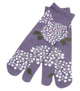 Flip Flop Socken für Damen – Kurochiku (Kyoto) – Kodemari Modell- (Einheitsgröße 23-25cm)