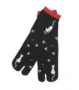 Flip Flop Socken für Damen – Kurochiku (Kyoto) – Neko no ashiato Modell- (Einheitsgröße 23-25cm)