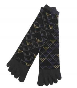 Fünf Zehen Socken für Männer – Kurochiku (Kyoto) – Uroko Modell – (Einheitsgröße 25-27cm)