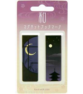 Magnetisches Lesezeichen Kurochiku (Kyoto)- Modell Nacht