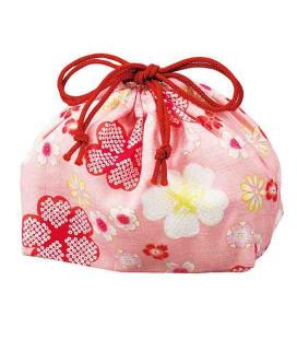 Hakoya Sakura Bento Beutel - Modell 33676-4 (Kirschblüte - rosa)