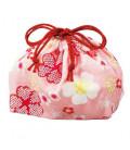 Hakoya Sakura Bento Bag - Modelo 33676-4 (Flor de cerezo rosa)