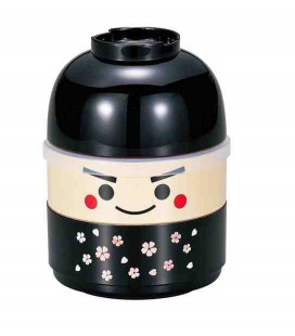 Hakoya Kokeshi Bento - Tamaño M - Modelo 50616-7 (Ichiro) - Color negro