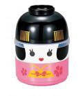 Hakoya Kokeshi Bento - Tamaño M - Modelo 50642-6 (Maiko) - Color rosa