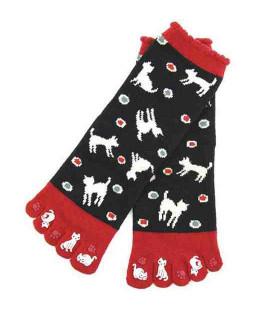 Fünf Zehen Socken für Damen – Kurochiku (Kyoto) – Mizutama Modell- (Einheitsgröße 23-25cm)