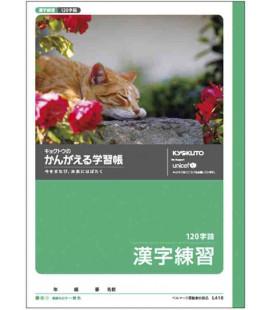 Kyokuto-Heft für Kanji-Schreibübungen - 120 Kanji pro Seite