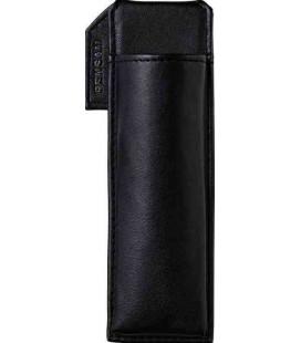 Japanischer magnetischer Stifthalter aus Leder - Modell Pensam 2001 (Black) - schwarze Farbe