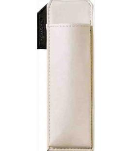 Porta bolígrafos magnético japonés de cuero - Modelo Pensam 2001 (White) - Color blanco