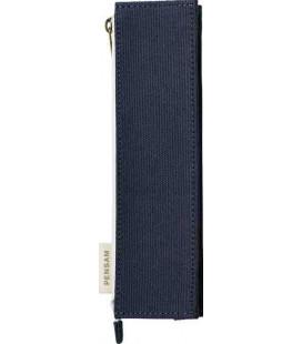 Japanisches Magnetetui für Stifte - Modell Pensam 2002 (Blue) - dunkelblaue Farbe