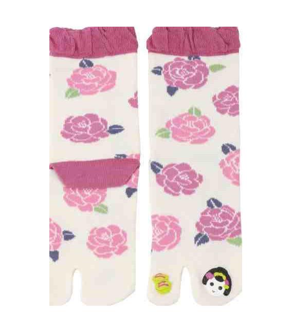 Flip Flop Socken für Damen – Kurochiku (Kyoto) – Maiko Modell- (Einheitsgröße 23-25cm)