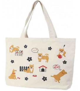 Japanische Tasche Kurochiku - Modell Hunde - 100% Baumwolle