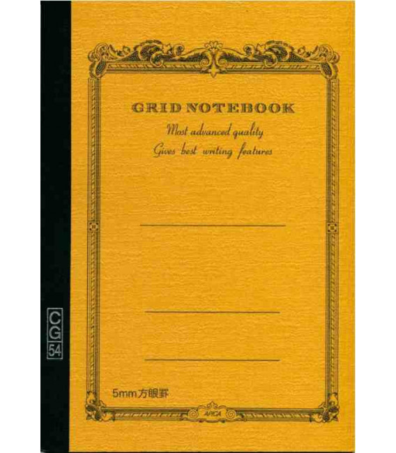 Apica CG54 - Notebook (Tamaño B6 - Color amarillo mostaza - Pauta cuadriculada - 104 páginas)
