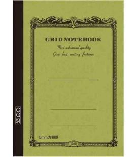 Apica CG54 - Notebook (Grösse B6 - Khaki grün - Kariert - 104 seiten)