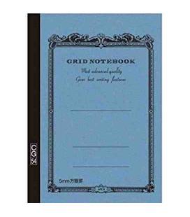 Apica CG54 - Notebook (Grösse B6 - Hellblaue Farbe - Kariert - 104 Seiten)