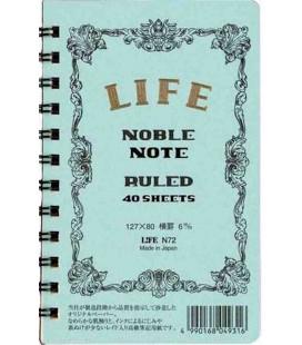 Life Noble Note - N72 (Größe 127x80mm - Hellblau - liniert - 40 Blätter)