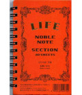 Life Noble Note - N70 (Tamaño 127x80mm - Color Naranja - Cuadriculas - 40 paginas)