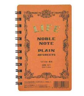 Life Noble Note - N71 (Größe 127x80mm - Braune Farbe - Unliniert- 40 Blätter)