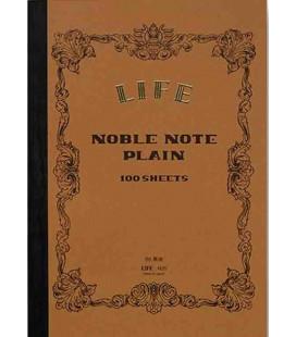Life Noble Memo - N29 (Größe B6 - Braune Farbe - Unliniert - 100 Blätter)