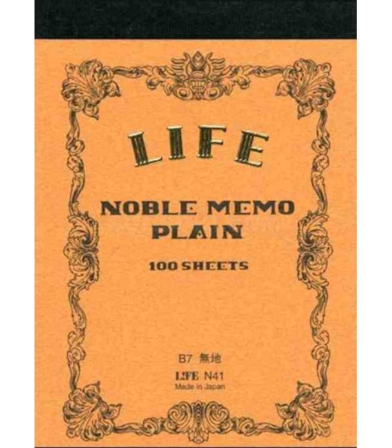 Life Noble Memo - N41 (Tamaño B7 - Color marron - lisas - 100 paginas)
