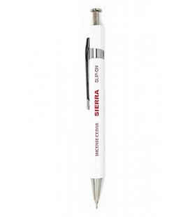 Sierra japanischer Kugelschreiber (Zedernholz Gehäuse) - Schwarze Tinte - Größe S - weiße Farbe
