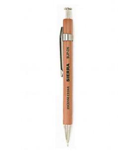 Sierra japanischer Kugelschreiber (Zedernholz Gehäuse) - Schwarze Tinte - Größe S - natürliche Farbe