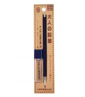 Japanischer Druckbleistift (Holz Schale) Kitaboshi - Modell Indigo