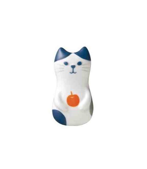 Decole - Gato soporte de cerámica para palillos - Modelo manzana