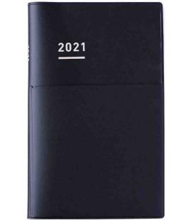 Jibun Techo Kokuyo - Zeitplaner 2021 - Biz Diary - A5 Slim - Schwarze Farbe