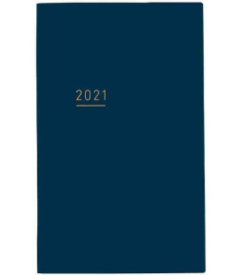 Jibun Techo Kokuyo - Zeitplaner 2021 - Lite Mini Diary - B6 Slim - Blue Navy