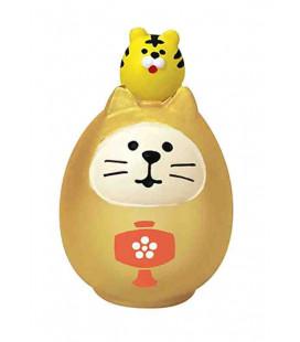 Decole - Gato Daruma dorado - Concombre Fuku Mono - Modelo ZCB-43944