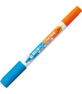 Pen for memorization Kokuyo (Bright color - Orange/blau) - Enthält kein Transparentpapier rot