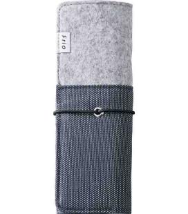 Japanisches Etui für Stïfte - Modell Frio 8401 (Blue) - blaue und graue Farbe
