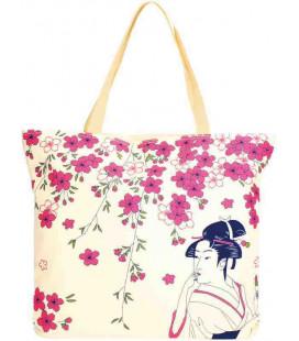 Japanische Tasche Kurochiku - Modell Hana Bijin 3 - 100% polyester