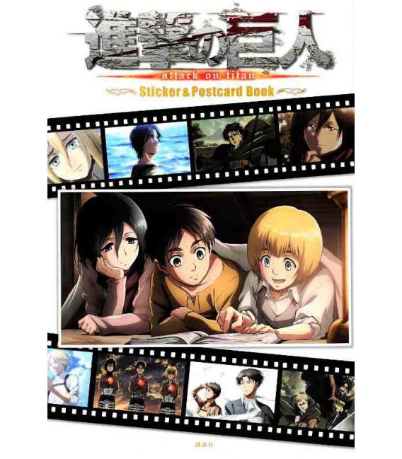 Shingeki no Kyojin (Der Angriff der Titanen) Sticker & Postcard Book