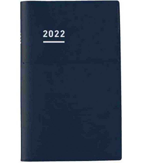 Jibun Techo Kokuyo - Zeitplaner 2022 - Biz Diary - A5 Slim - Blue Navy