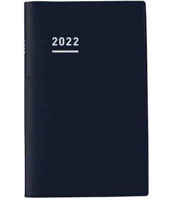 Jibun Techo Kokuyo - Zeitplaner 2022 - Biz Diary - A5 Slim - Schwarze Farbe