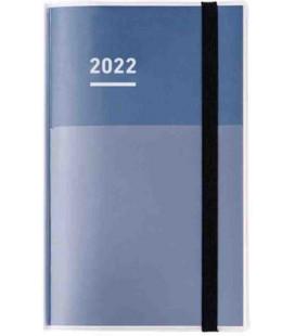 Jibun Techo Kokuyo - Zeitplaner 2022 - Diary + Life + Idea set - A5 Slim - Blue Navy