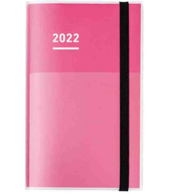 Jibun Techo Kokuyo - Zeitplaner 2022 - Diary + Life + Idea set - A5 Slim - Pinke farbe